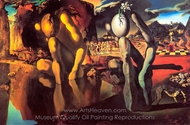 The Metamorphosis of Narcissus painting reproduction, Salvador Dali (inspired by)