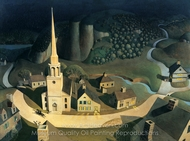 The Midnight Ride of Paul Revere painting reproduction, Grant Wood