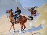 The Military Sacrifice (The Ambush) painting reproduction, Frederic Remington