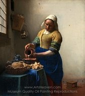 The Milkmaid painting reproduction, Jan Vermeer
