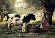 The Milkmaid painting reproduction, Julien Dupre
