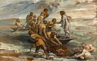 The Miraculous Draught of Fishes painting reproduction, Peter Paul Rubens