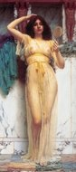 The Mirror painting reproduction, John William Godward