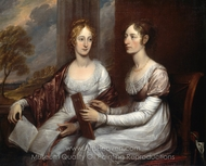 The Misses Mary and Hannah Murray painting reproduction, John Trumbull