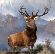 The Monarch of the Glen painting reproduction, Sir Edwin Landseer