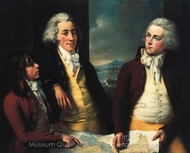 The Money Brothers: William Taylor, James, Robert painting reproduction, John Francis Rigaud