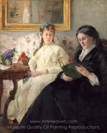 The Mother and Sister of the Artist painting reproduction, Berthe Morisot