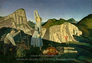 The Mountain painting reproduction, Balthus