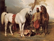 The Mounts of Abd El Kader painting reproduction, Alfred Dedreux