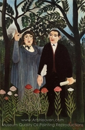 The Muse Inspiring the Poet painting reproduction, Henri Rousseau