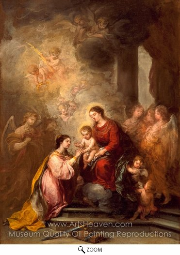 Bartolome Esteban Murillo, The Mystic Marriage of Saint Catherine oil painting reproduction