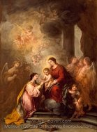 The Mystic Marriage of Saint Catherine painting reproduction, Bartolome Esteban Murillo