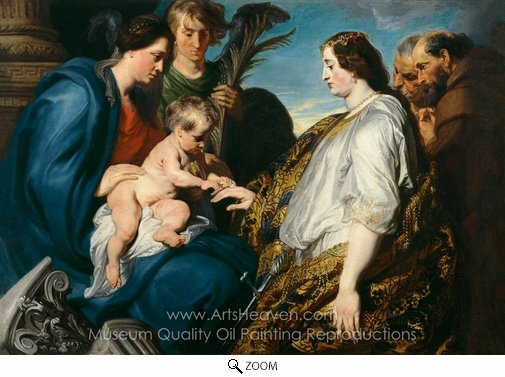 Sir Anthony Van Dyck, The Mystic Marriage of St. Catherine oil painting reproduction