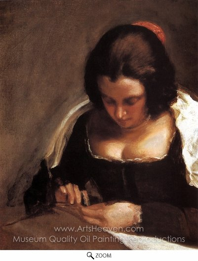 Diego Velazquez, The Needlewoman oil painting reproduction