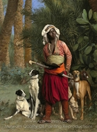 The Negro Master of the Hounds painting reproduction, Jean-Leon Gerome