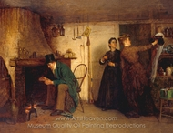 The New Bonnet painting reproduction, Eastman Johnson