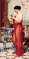 The New Perfume painting reproduction, John William Godward