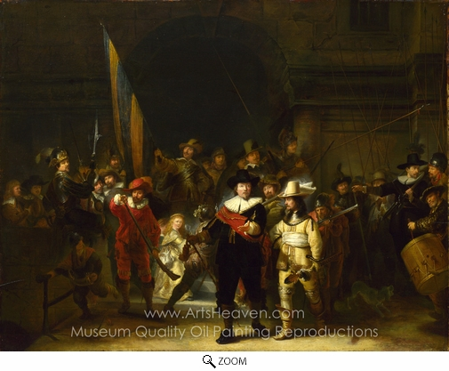 Rembrandt Van Rijn, The Night Watch oil painting reproduction