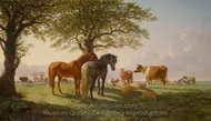 The Noonday Rest painting reproduction, John Frederick Herring Sr.