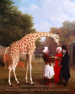 The Nubian Giraffe painting reproduction, Jacques Laurent Agasse