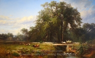 The Old Homestead painting reproduction, James McDougal Hart