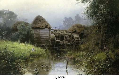 Vasiliy Polenov, The Old Mill oil painting reproduction