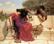 The Old Old Story painting reproduction, John William Godward