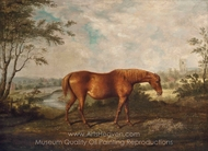 The Old Tartan Mare in her 28th year, painting reproduction, Sawrey Gilpin