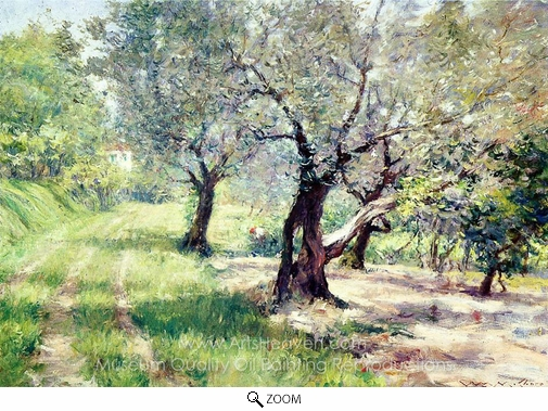 William Merritt Chase, The Olive Grove oil painting reproduction