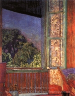 The Open Window painting reproduction, Pierre Bonnard