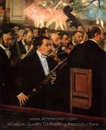 The Orchestra of the Opera painting reproduction, Edgar Degas