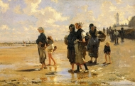 The Oyster Gatherers of Cancale painting reproduction, John Singer Sargent