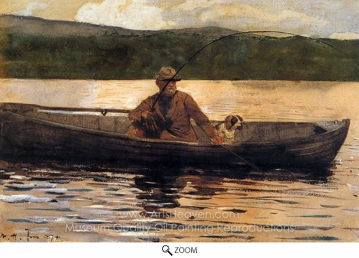Winslow Homer, The Painter Eliphalet Terry Fishing from a Boat oil painting reproduction