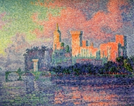 The Papal Palace at Avignon painting reproduction, Paul Signac