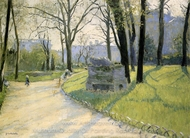 The Parc Monceau painting reproduction, Gustave Caillebotte