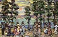 The Park at Sunset painting reproduction, Maurice Prendergast