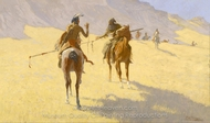 The Parley painting reproduction, Frederic Remington