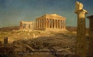 The Parthenon painting reproduction, Frederic Edwin Church