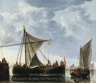 The Passage Boat painting reproduction, Aelbert Cuyp