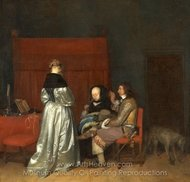 The Paternal Admonition painting reproduction, Gerard Ter Borch