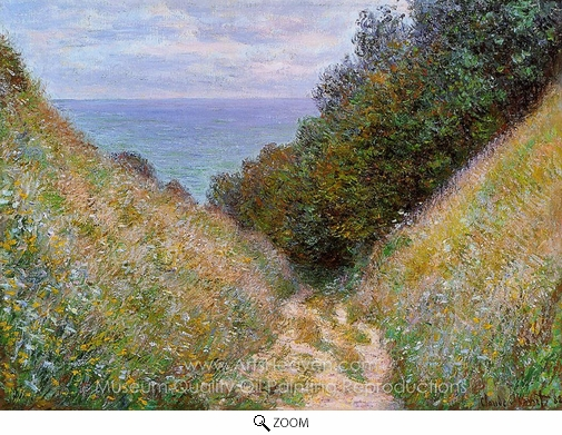 Claude Monet, The Path at La Cavee, Pourville oil painting reproduction