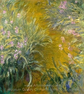 The Path through the Irises painting reproduction, Claude Monet