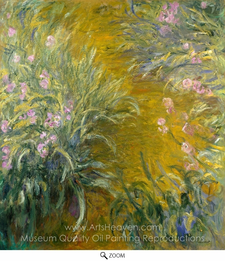 Claude Monet, The Path through the Irises oil painting reproduction
