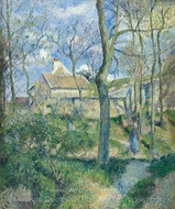 The Path to Les Pouilleux, Pontoise painting reproduction, Camille Pissarro