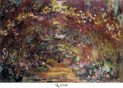 Claude Monet, The Path Under the Rose Trellises, Giverny oil painting reproduction