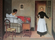 The Patient painting reproduction, Felix Vallotton
