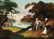 The Peaceable Kingdom painting reproduction, Edward Hicks