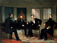 The Peacemakers painting reproduction, George P. A. Healy