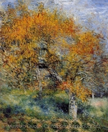 The Pear Tree painting reproduction, Pierre-Auguste Renoir