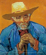 The Peasant, Portrait of Patience Escalier painting reproduction, Vincent Van Gogh